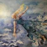 Pirkko Siivosen akvarelli Kuulento.