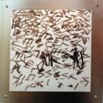 Vivian Majevskin teossarjassa on tyyliteltyä kalligrafiaa.