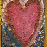 Elina Kylämarkula: Sydän (kollaasi ja maalaus)